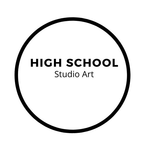 High school studio art button