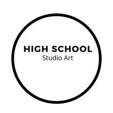 High school studio art button